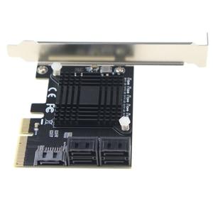 Image 4 - PCI Express contrôleur dextension 3.0x4 à 5 ports SATA III, 6Gbps, carte dextension, multiport pour HDD SSD, avec câbles de données 5x