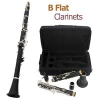 17 Key bB Flat Clarinet Bakelite Body Nickel Silver Plated Keys with Tube Cloth Screwdriver and Storage Box Clarinets Set Hot