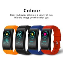 QW18 Color Screen Smart Bracelet fitness tracker Heart Rate smart Band Monitor IP68 Waterproof  Bluetooth 4.0 Sports Wristbands