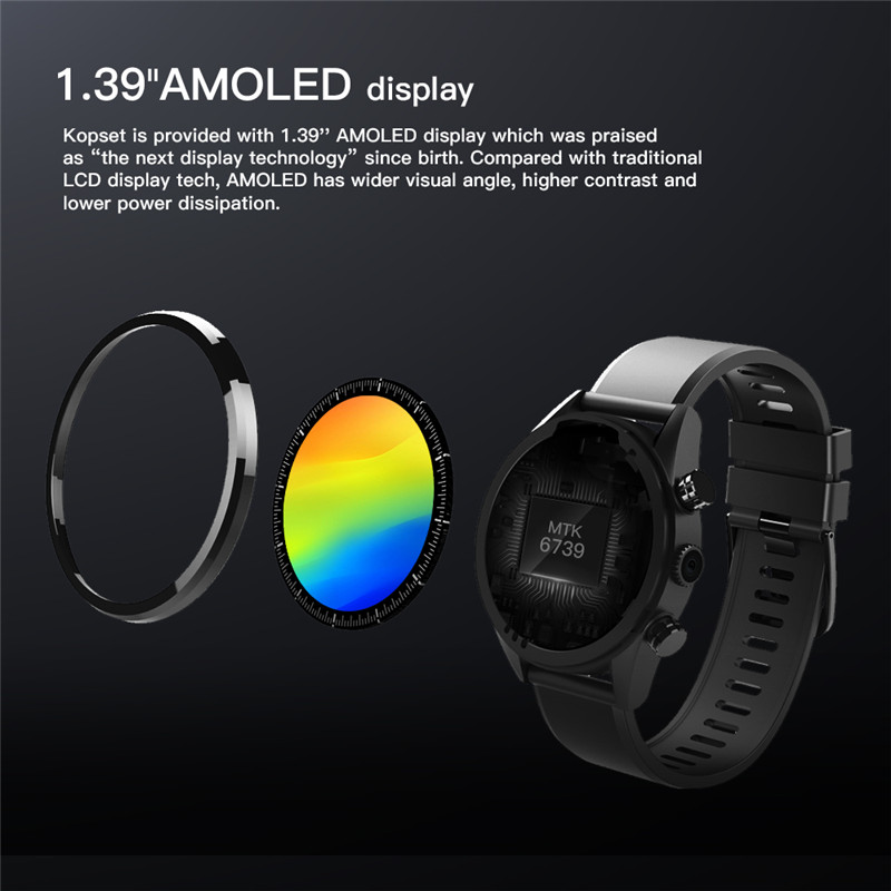 Waterproof kospet Hope 3GB Smart Watch with 8MP Camera including Google play store and GPS Map waterproof for men available for Android ios 4