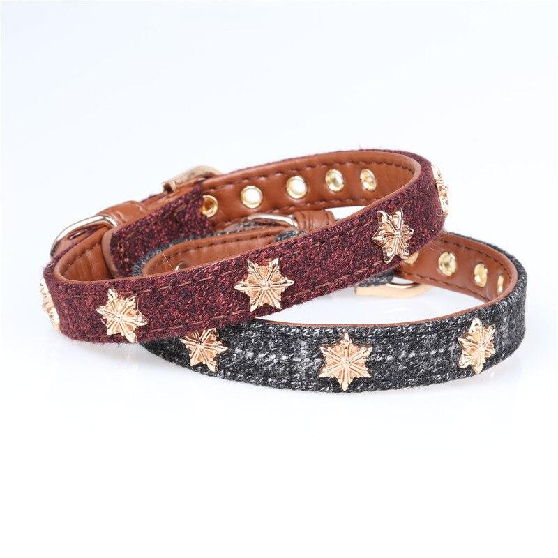 Jin Jie Te Origional New Style Star Pet Collar Pu Dog Neck Ring Dog Collar Pet Supplies