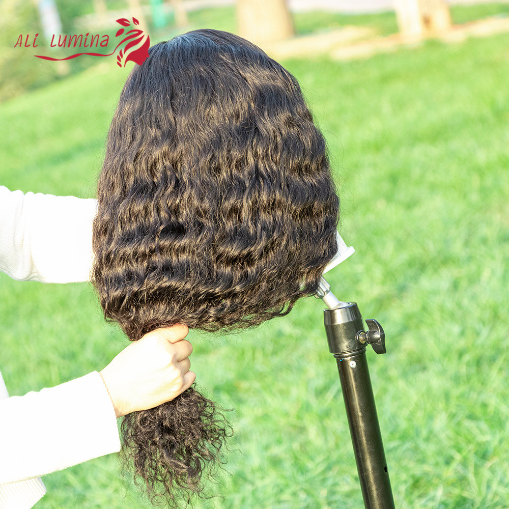 4X4 Lace Closure Wig Deep Wave Wig  Wigs Pre-Plucked With Baby Hair Natural Color  Lace Wig  Hair 3