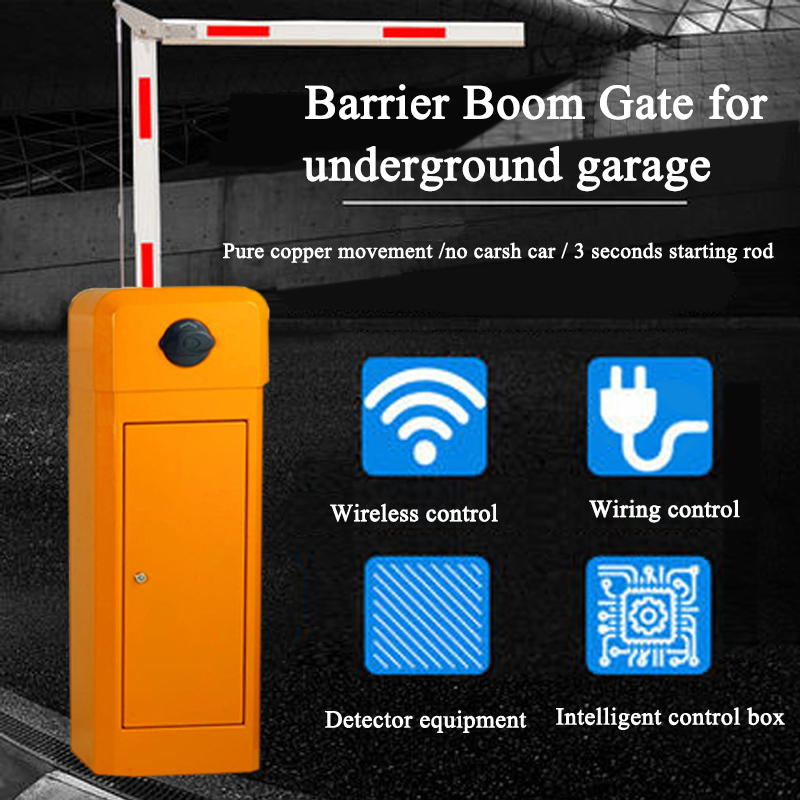 Car Parking Barrier Boom Arm Barrier Gate Operator Input AC220V, Automatic Barrier Folded (90 Degree) Boom / Arm Parking Barrier