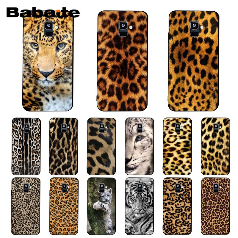dae50df23183 US $1.29 35% OFF|Babaite Fashion Tiger Leopard Print Panther Phone Case For  Samsung Galaxy A7 2018 A50 A70 A8 A3 A6 A6Plus A8Plus A9 2018-in ...