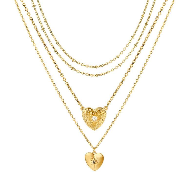 VKME модное жемчужное ожерелье с двойным слоем Love аксессуары Женское Ожерелье Bijoux подарки - Окраска металла: ZL0001043