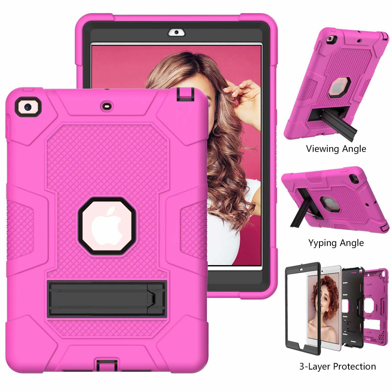 6 Purple Shockproof Case for iPad 8th 7th Generation 10 2 Hybrid Armor Heavy Duty Hard PC Rugged