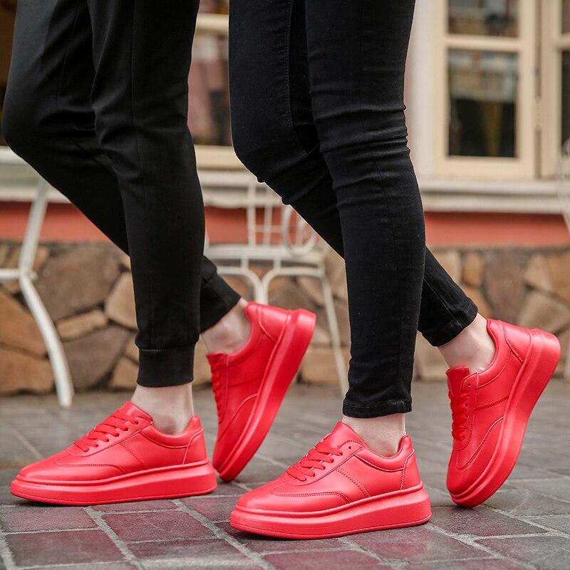Image 5 - Мужские кроссовки; белая обувь; мужские теннисные кроссовки; мужские зимние кроссовки для отдыха; кожаная обувь на плоской подошве; мужские зимние кроссовки на толстой подошве-in Мужская повседневная обувь from Обувь