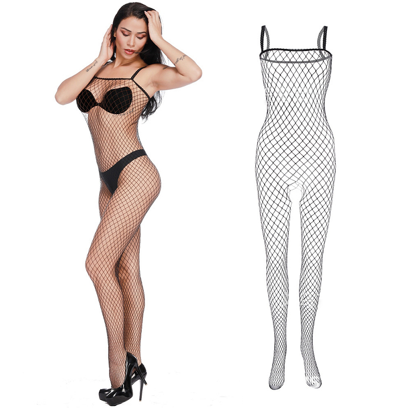 Women Sexy <font><b>Lingerie</b></font> Plus Size Sexy Mesh Fishnet Tights Body Stockings Open Crotch Porn <font><b>adult</b></font> women <font><b>sex</b></font> underwear lace body suit image