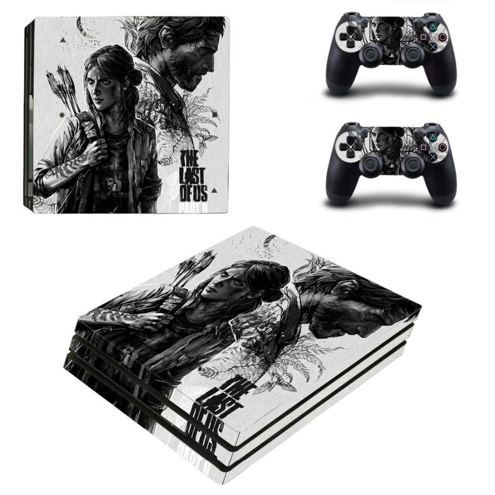 FENGLING Jeu The Last of Us Part 2 Ps4 Pro Skin Sticker Decal pour Console Playstation 4 et 2 contr/ôleurs Ps4 Pro SK