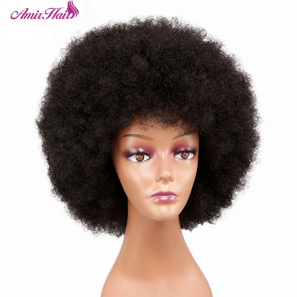 Permalink to -30%OFF Afro Wig Women Short Fluffy Hair Wigs For Black Women Kinky curly Synthetic Hair For Party Dance Cosplay Wigs with Bangs