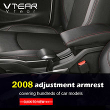 For Peugeot 2008 301 c Elysee armrest interior leather arm rest USB car-styling storage box car center console parts accessories