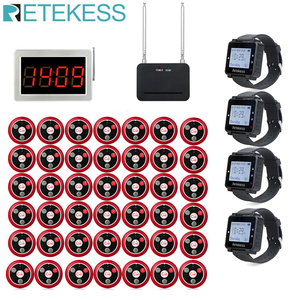 Image 1 - Retekess מסעדת הביפר שיחת מלצר מארח + 4 שעון מקלט + אות מהדר + 42 T117 שיחת כפתורים עבור בר קפה שיחה ללקוח