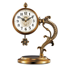 Simple reloj de mesa retro reloj de péndulo de la habitación dormitorio escritorio decoración estilo europeo de mudo escritorio reloj OrnamentsLA24