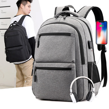 Laptop Backpack Charger 17inch School Business-Bag Men with Usb Casual Male Travel