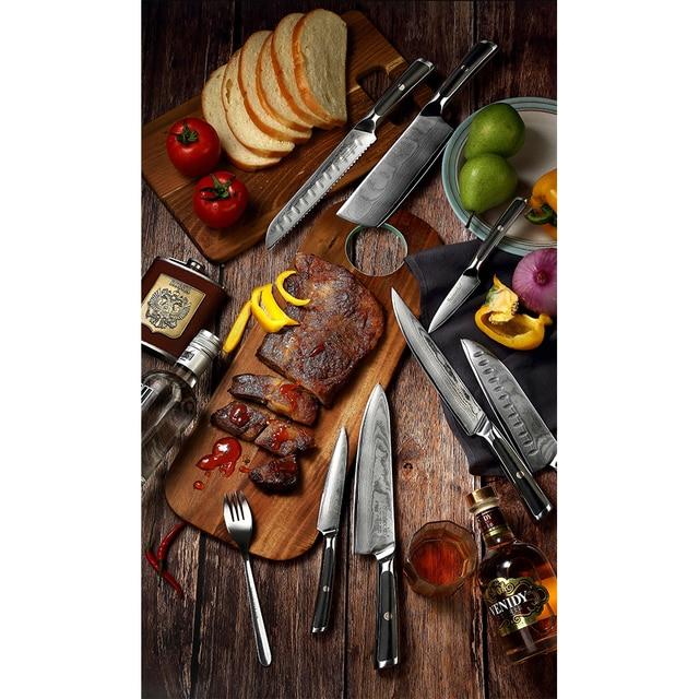 Sunnecko 8 Inch Damascus Steel Chef knife 6