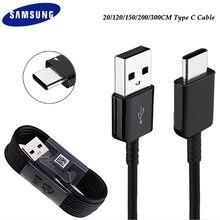 Original usb tipo c cabo para samsung s21 s20 ultra fe s10 s9 s8 mais m51 a90 a50 a80 a71 carregamento rápido 2a linha de transferência dados