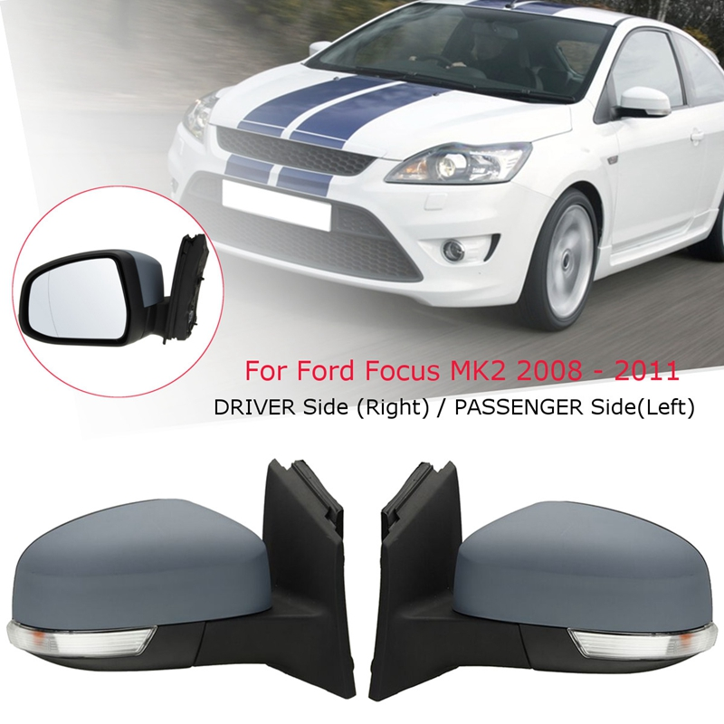 Ford Ka Mk2 Hatchback 2008-/> Door Mirror Electric Primed Pair Left /& Right