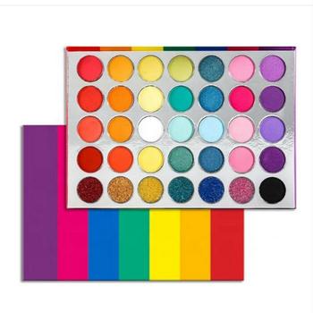 2020 nowy 35 kolorów Rainbow matowy cień do powiek Shimmer Glitter makijaż cień do powiek paleta cieni do powiek makijaż palety maquillage tanie i dobre opinie JOLEE KANG pressed eyeshadow powder Długotrwała Łatwe do noszenia Naturalne BRIGHTEN Wodoodporna wodoodporny Brokat W pełnym rozmiarze