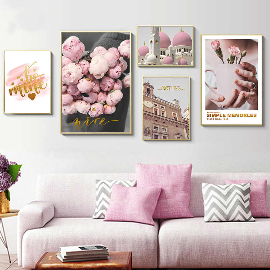 Wall Flower Pictures Painting Printing on Canvas Decorativos Nordic Scandinavian Poster Print Wall Art Home Living Room Decor