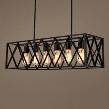 Промышленный дизайн деко винтажная Подвесная лампа для гостиной