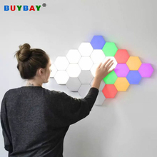 Touch Wall Lamp Creative Quantum Lamps Led Hexagon Lights Sensitive LED Magnetic Modular Light for home decor DIY wall lamparas