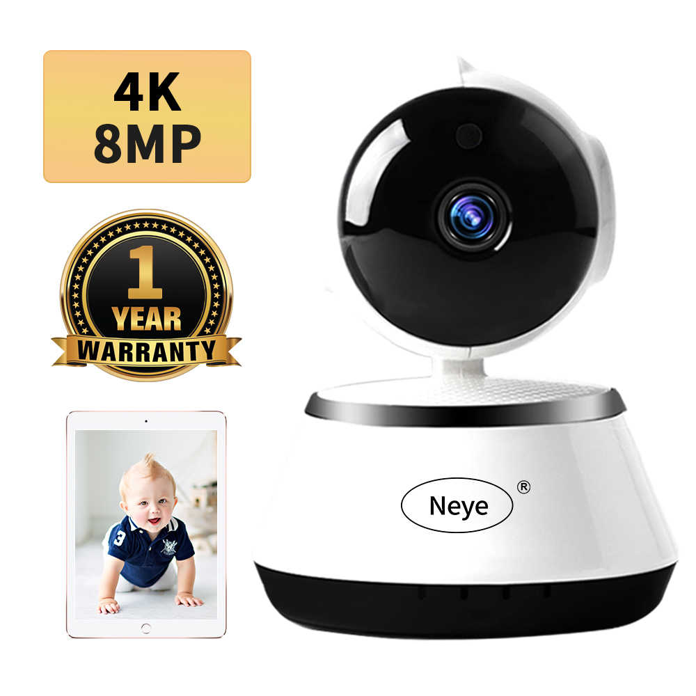 N_eye 8MP 4K/1080P Hd Home Security Ip Camera Two Way Audio Draadloze Camera Nachtzicht Cctv wifi Camera Babyfoon Pet Cam