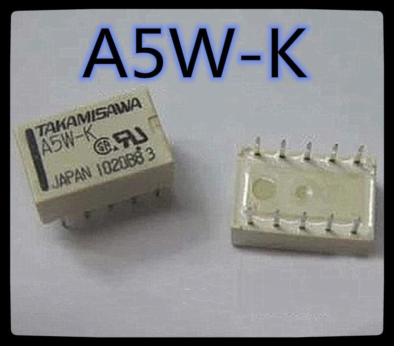 (10 pces) A5W-K 5vdc A12W-K 12vdc A24W-K 24vdc dip-10 relé dip-4 relé novo e original