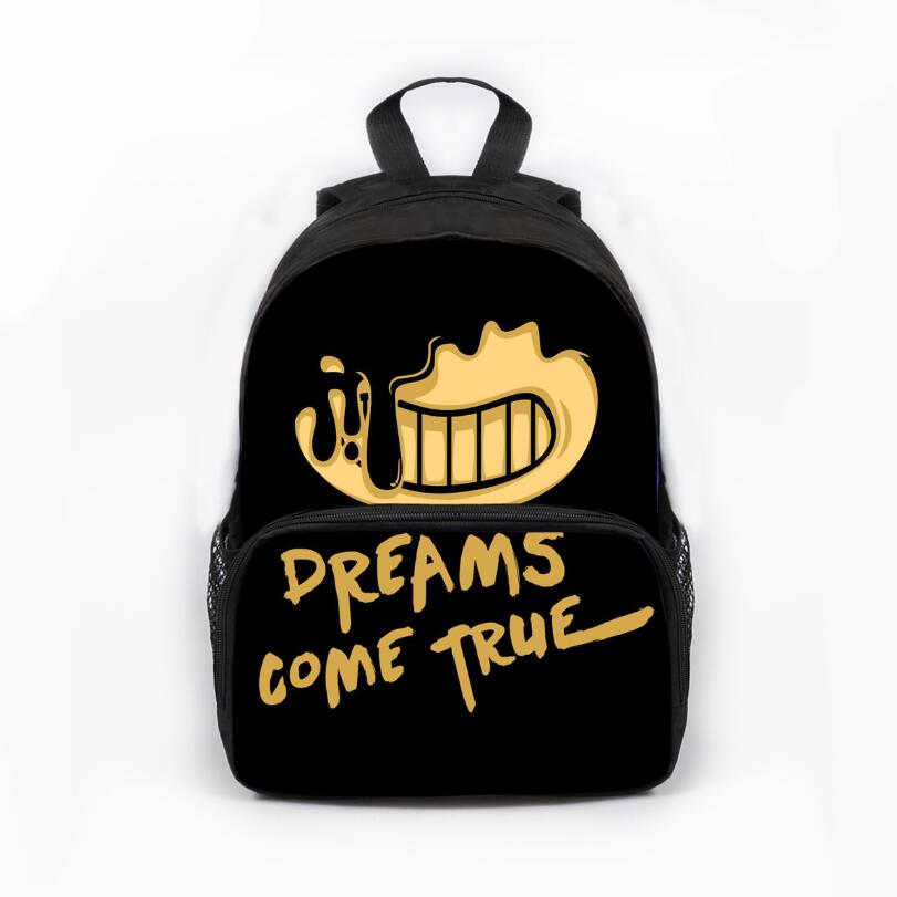 13 Inch Prevalent Kindergarten Cartoon Bag Kids Bendy And The Ink Machine Backpack For Children Girls Boys Preschool Baby Bags