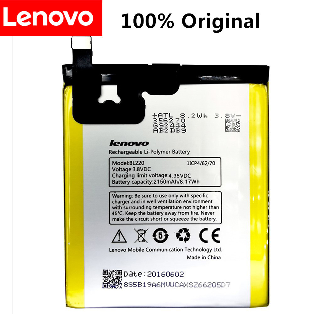 BL220 2150mAh Large Capacity Rechargeable Lithium Polymer CellPhone Battery For Lenovo S850 S850T
