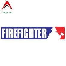 Aliauto Funny Car Sticker Magnet Mlb Style Firefighter Personality Waterproof Cover Scratch Accessories PVC Decal,17cm*3cm(China)