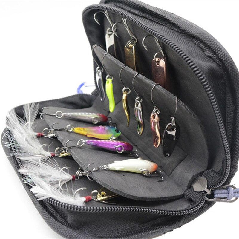 79.99руб. 5% СКИДКА|1 шт. сумка для рыболовной наживки, кошелек, ложка, Спиннер, чехол для хранения, металлическая джигбейт, джиг, ложка, снасти, сумка, аксессуары для рыбалки на открытом воздухе|Сумки для рыбалки| |  - AliExpress