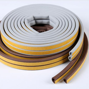 Image 3 - 10M/roll Self Adhesive door seal strip Rubber Weather Strip Windproof Soundproof window sealing tape  hardware accessories