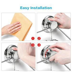 Image 5 - Bathroom Shelf Storage Rack Stainless Steel Shelf Punch Free Firm Shower Kitchen Fitted Wall Storage Organizer Rack