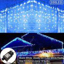 Yasenn 6 м 300led Сказочный светильник s занавеска Мерцающая