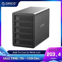 ORICO 35 serisi kurumsal 5 bay 3.5 HDD yerleştirme istasyonu USB3.0 SATA RAID HDD muhafaza 150W dahili güç HDD durumda