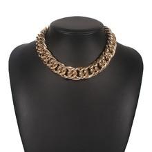 Массивная цепочка на шее, массивное ожерелье-чокер 2020, ювелирные украшения для женщин, украшения для эстетики, модные аксессуары