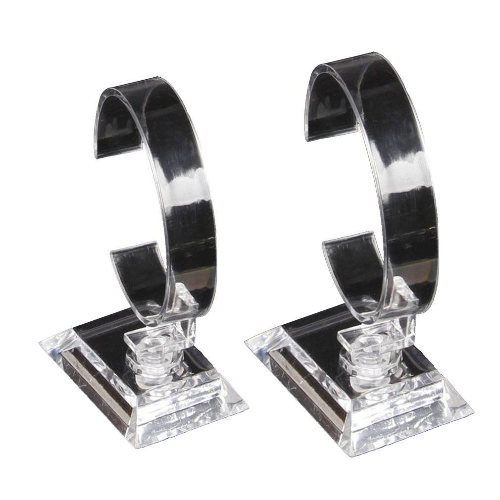 Clear Acrylic Watch Display Holder Stand Rack Showcase Tool Transparent Wristwatch Lightweight Stand Case