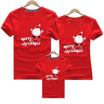 T-shirt rodzinny wygląd nowy rok rodzina pasujące ubrania matka córka ubrania wesołych świąt matka syn stroje tata syn ubrania tanie i dobre opinie campure Koszulki Moda Krótki Pasuje prawda na wymiar weź swój normalny rozmiar COTTON Cartoon Matka Ojciec Dzieciak