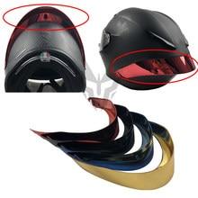 Acessórios caso spoiler traseiro para agv pista gpr gprr corsa rosto cheio capacete da motocicleta