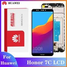 Tela original para huawei honor 7c AUM-L41 display lcd digitador assembléia toque aplicar a honor7c atu lx1/l21 + quadro
