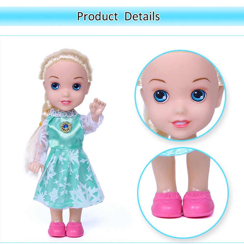 Brinquedo Brinquedos da disney Congelado Princesa Elsa Anna Dolls & acessórios Olfa Presentes de Boa Qualidade! Bonecos de plástico Do Bebê para Meninas