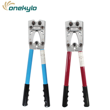 HX-50B Wire Terminal Crimping Tool 6-50mm2 Cable Lug Crimper Cu/Al Terminal Ratchet Electrician Plier (AWG10-1/10)