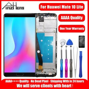Image 1 - PINZHENG AAAA מקורי LCD עבור Huawei Mate 10 לייט תצוגת מסך מגע החלפת Digitizer עבור Huawei nova 2i צגי LCD מסך
