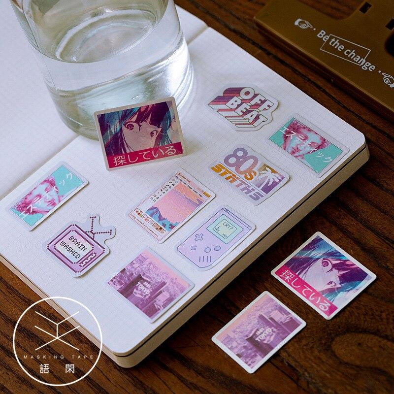 50pcs/pack Cute Flower Unicorn Posters Mini Paper Sticker Decoration Diary Scrapbooking Label Sticker Stationery 2