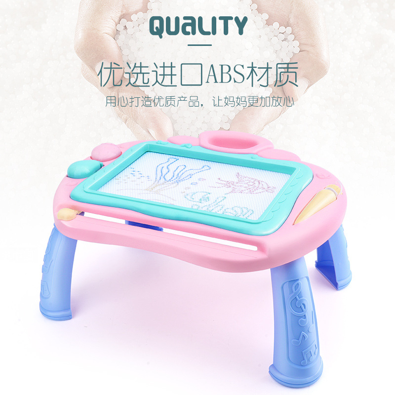 Doing Homework Color Hua Ban Zhuo Baby Extra Large Er Tong Ban Educational Magnetic Doodle Board Plastic Album Type Toy 3