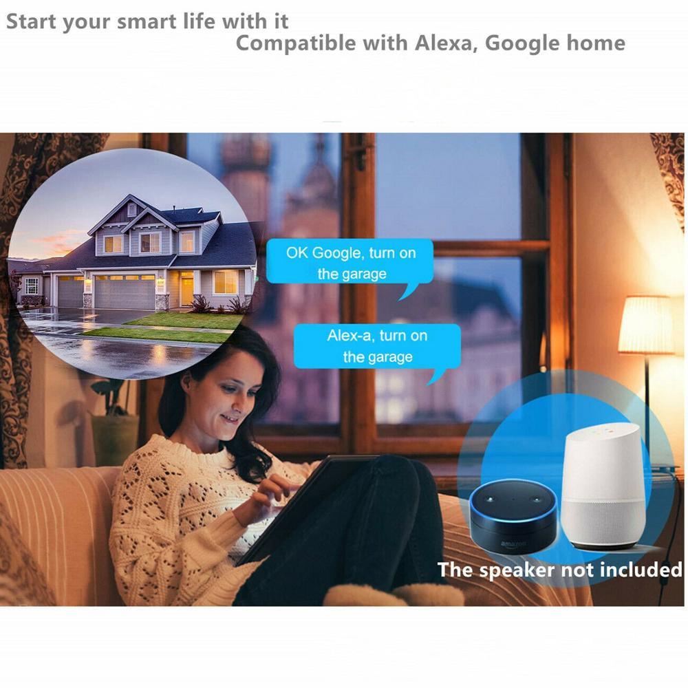 Wofea WiFi Switch Smart Garage Door Opener Controller Work With Alexa Echo Google Home SmartLife Tuya Wofea WiFi Switch Smart Garage Door Opener Controller Work With Alexa Echo Google Home SmartLife/Tuya APP Control No Hub Require