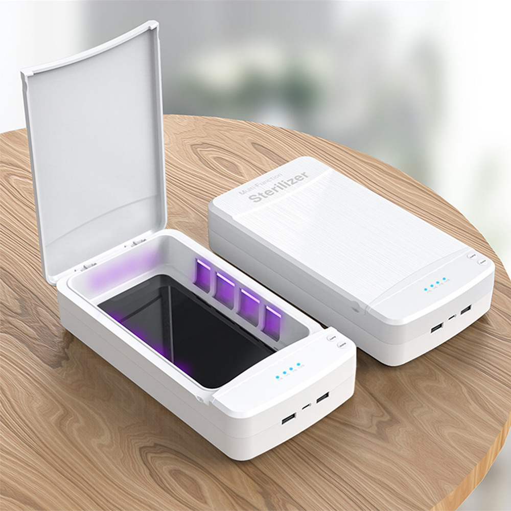 UV Light Sterilizer Smart Mask Sterilizer USB Ultraviolet Disinfection Light Lamp  Multifunctional Mobile Phone USB Power Bank