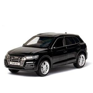 Image 4 - Diecastรุ่น1:32 Scaleใหม่Audi Q5 Sport SUVรถดึงกลับเสียงเด็กของขวัญคอลเลกชันฟรีการจัดส่ง