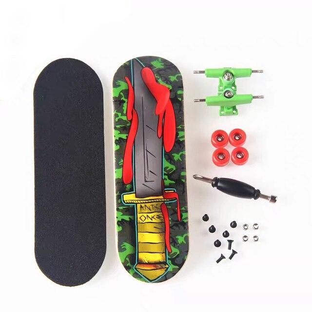 2020 Professional Mini Finger Skate Board Maple Wooden Fingerboard Tech Deck Ramp Boys Gadgets Juguetes Para Chicos Minicra