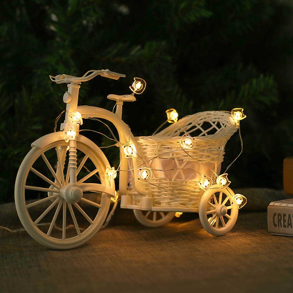 6.6ft แมว 20 ไฟ LED Fairy Party แบตเตอรี่ดำเนินการ String LED ไฟตกแต่งสำหรับคริสต์มาสงานแต่งงานในร่ม